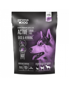 PrimaDog Active Adult All Breed Grain-free And/Sild, 1,5 kg.