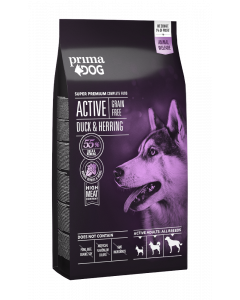 PrimaDog Hundefoder Active Adult All Breed Grain-free And/Sild, 10 kg.