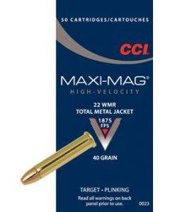 CCI 22WMR Maxi Mag HS 40gr, 50 stk