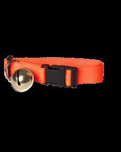 Halsbånd m/ klokke 35-60cm Orange