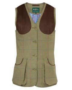 Allan Paine Combrook Tweed Skydevest, Dame