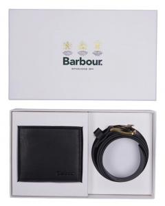 Barbour pung/bælte gavesæt, læder