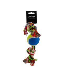 Dogman flosset reb med tennisbold, 30 cm.