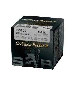 Sellier & Bellot FMJ 8x57JS 12,7g, 50 stk