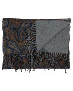 Portia Uld Halstørklæde Gul/Blå, 30x180 cm