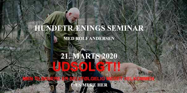 Hundetrænings seminar i Hubertushuset