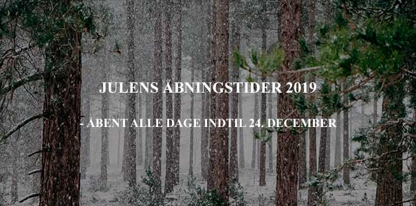 Julens åbningstider i Hubertushuset